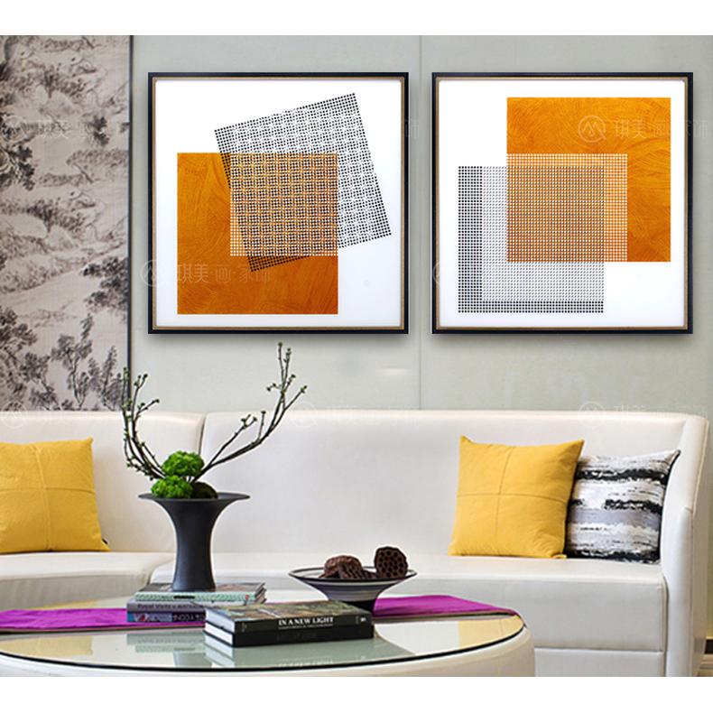 橙色几何(洛克钛晶画)6060