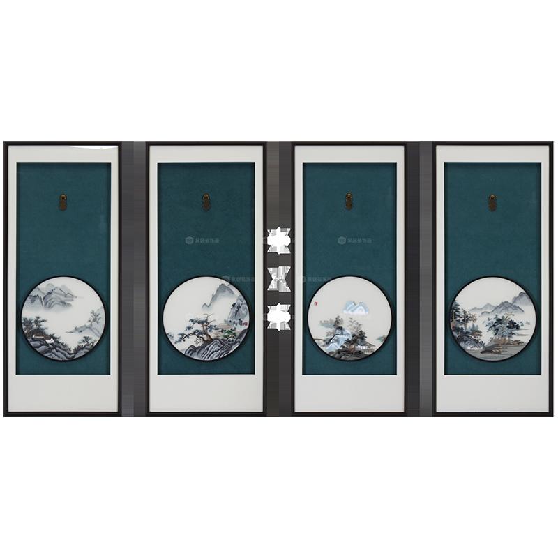 0202401902 山水(四条屏湘绣)48cmX110cm